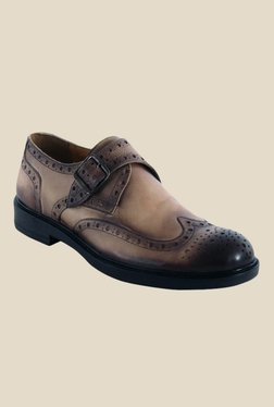 Salt 'n' Pepper Antartic Choco Brown Monk Shoes