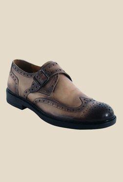 Salt 'n' Pepper Antartic Choco Brown Monk Shoes