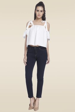 Vero Moda White Cold Shoulder Top