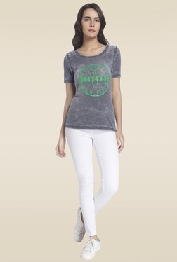 Vero Moda Grey Short Sleeves Printed T-shirt