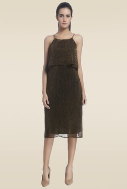 Vero Moda Brown Sheath Dress