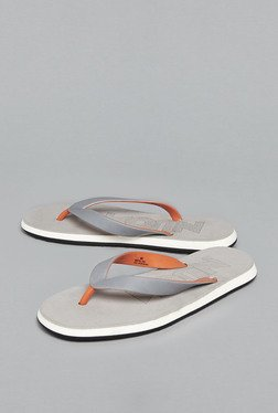 Nuon By Westside Grey Textured Flip Flops