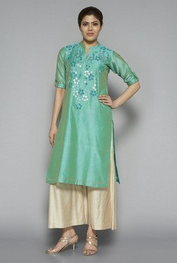 Zuba by Westside Green Embroidered Kurta