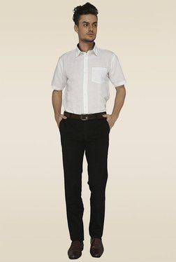 Greenfibre Black Flat Front Trouser