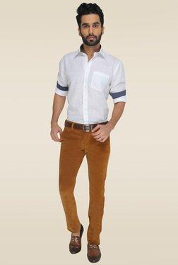Greenfibre Brown Slim Fit Trouser