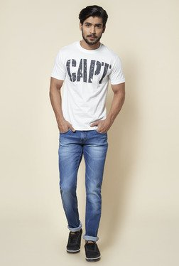 Zudio Blue Stretch Slim Fit Jeans