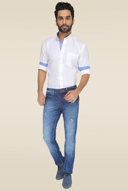 Greenfibre Light Blue Casual Wear Jeans
