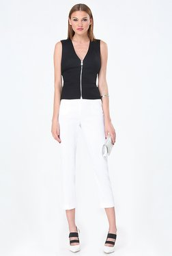 Bebe Black Solid Waist Coat