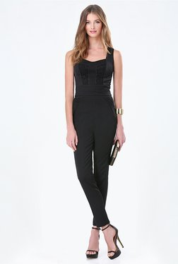 Bebe Black Lace Waist Coat