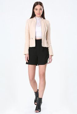 Bebe Peach Solid Jacket