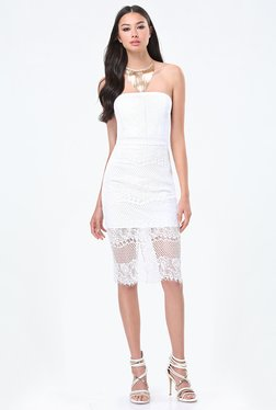 Bebe White Lace Dress