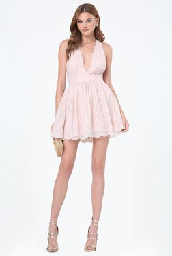 Bebe Pink Lace Dress - Mp000000000976544