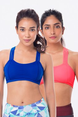 PrettySecrets Blue & Peach Padded Bra (Pack Of 2)