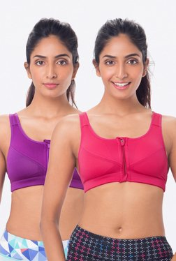 PrettySecrets Purple & Pink Padded Bra (Pack Of 2)