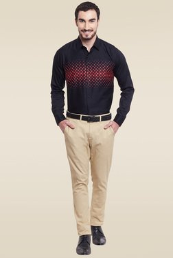Hancock Black Slim Fit Cotton Shirt - Mp000000000986348