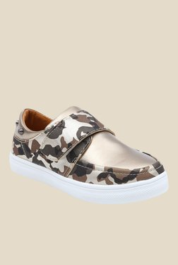 Lilliput Brown And Golden Casual Shoes