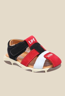 Lilliput Red And Black Casual Sandals