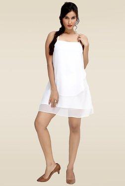 Loco En Cabeza White Ruffle Layer Dress