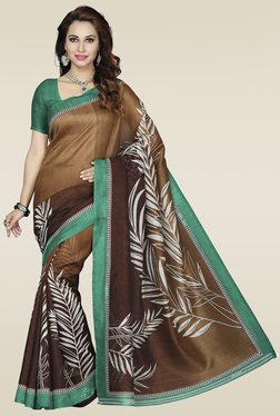 Ishin Brown Bhagalpuri Silk Saree