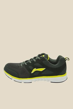 Li-Ning Dark Grey & Lime Yellow Running Shoes