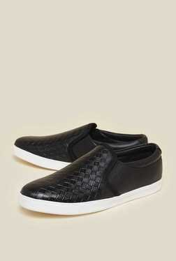 Zudio Black Faux Leather Loafers