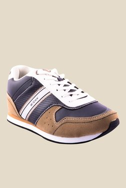 Escan Dark Grey & Brown Running Shoes