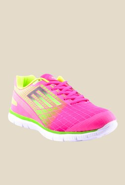 Escan Pink & Lime Green Running Shoes