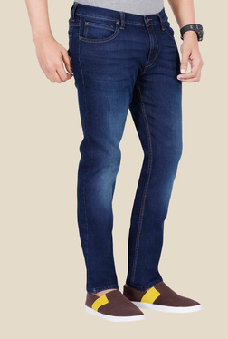 Lee Indigo Mid Rise Denim Jeans