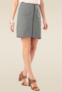 Phase Eight Grey Zip Front Skirt