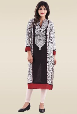 Hirshita White Printed Regular Fit Kurti