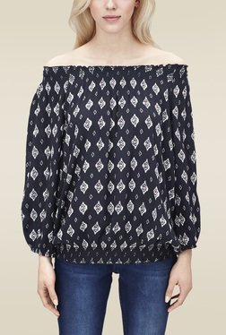 S.oliver Navy Off Shoulder Top