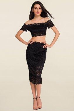 N-Gal Black Lace Skirt Set - Mp000000000996969