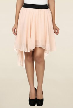 N-Gal Cream Solid Skirt
