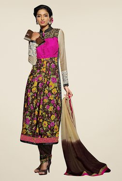 Ethnic Basket Multicolor Semi Stitched Salwar Suit Set