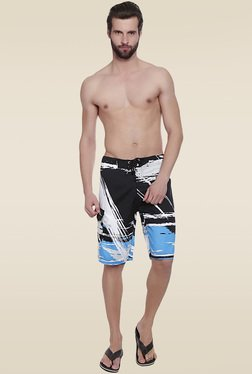 Lobster Royal Blue & Black Printed Boat Shorts