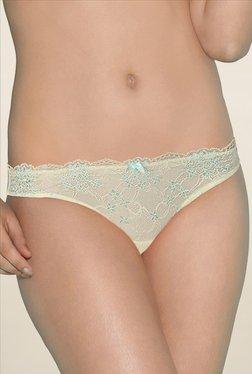 Amante Cream Lace Bikini Panty