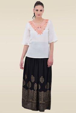 Juniper Black Printed Long Skirt