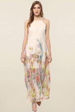Magnetic Designs Beige Floral Print Dress