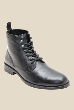 Red Tape Black Derby Boots