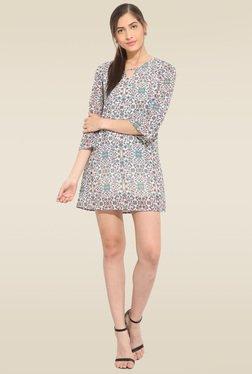 Lucero Multicolor Floral Shift Midi Dress