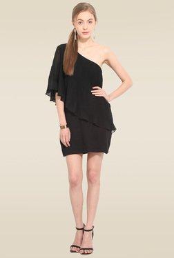 Lucero Black Off-shoulder Dress