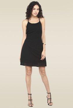 Lucero Black Halter Neck Dress