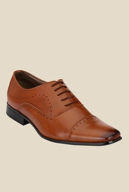 Afrojack Tan Oxford Shoes