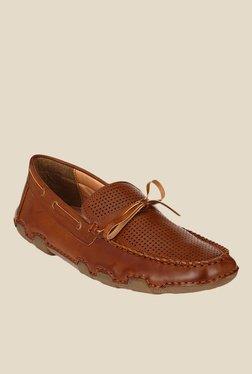 Afrojack Dark Tan Boat Shoes