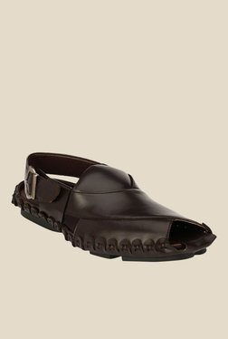 Afrojack Dark Brown Back Strap Sandals