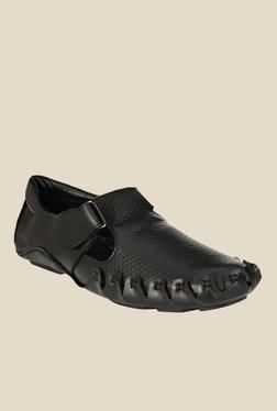 Afrojack Black Fisherman Sandals