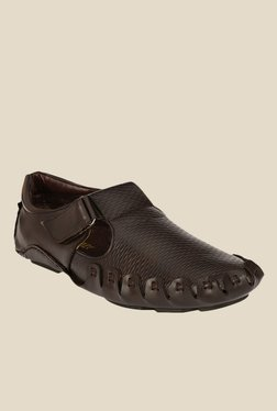 Afrojack Dark Brown Fisherman Sandals
