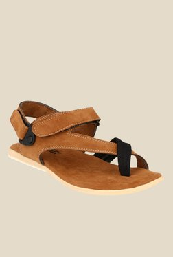 Afrojack Tan Back Strap Sandals