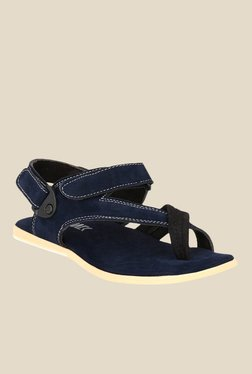 Afrojack Navy Back Strap Sandals