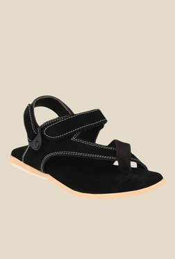 Afrojack Black Back Strap Sandals